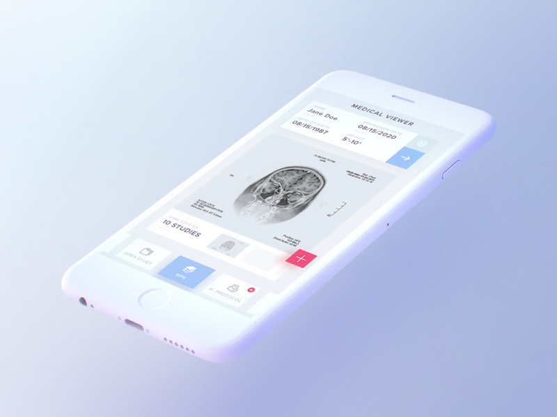 Free Light iPhone  PSD Mockup