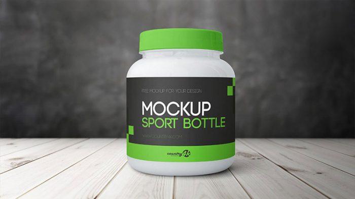 Sports Bottle PSD MockUp