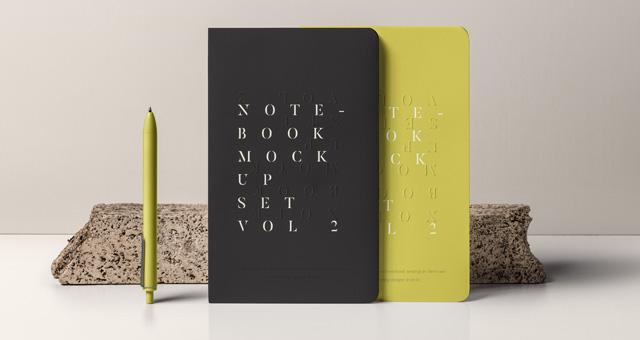 Psd Notebook Mockup Set