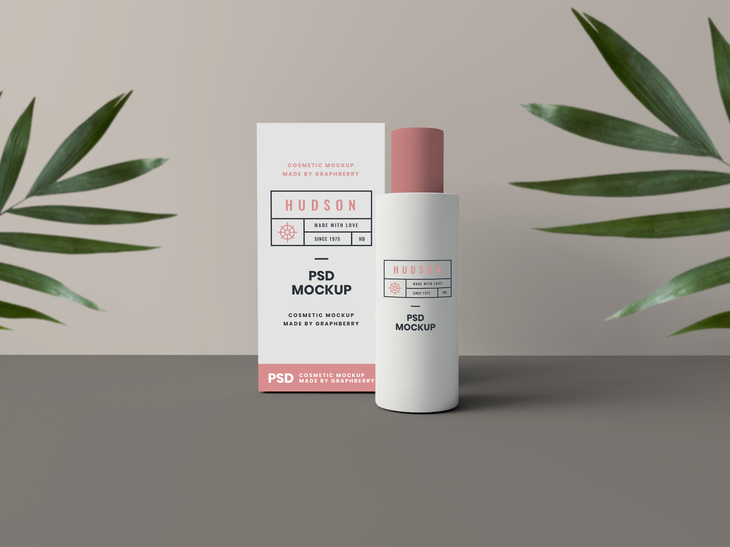 Cosmetics Packaging Mockup
