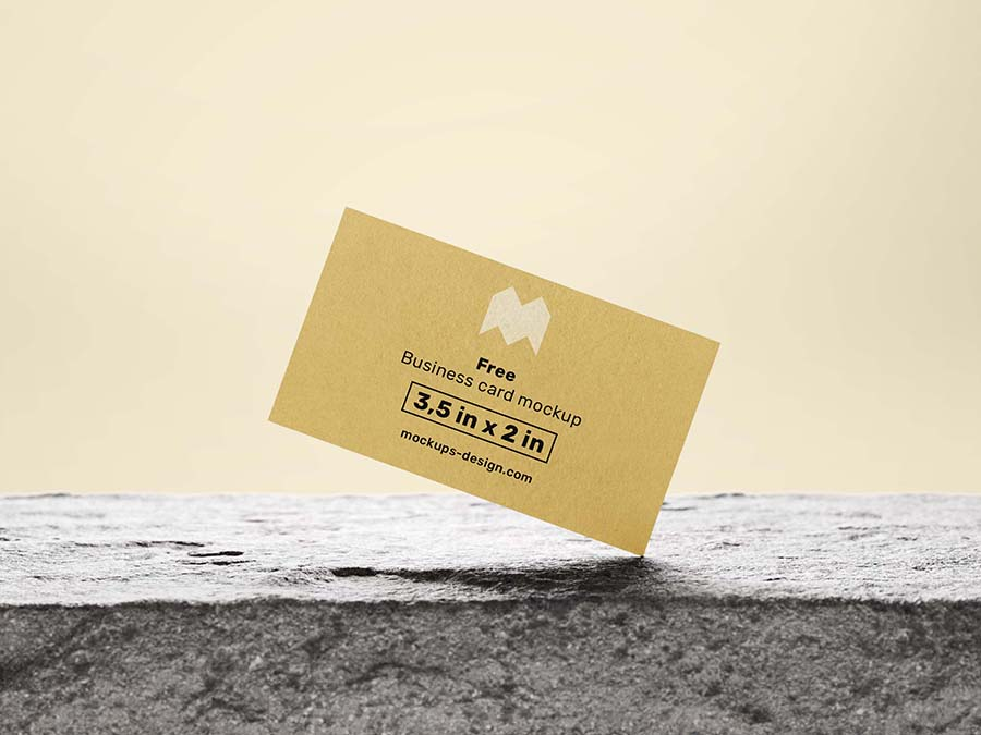 Photo Based Business Card Mockup