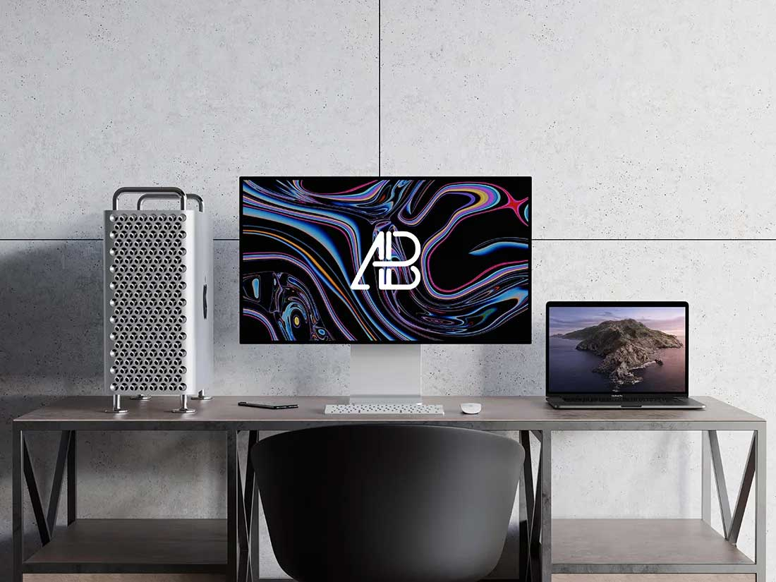 Mac Pro and MacBook Pro Mockup