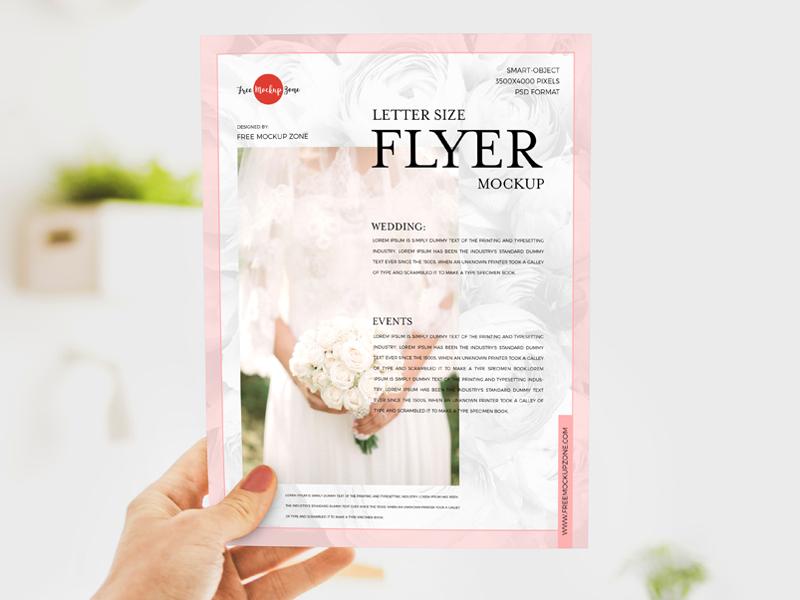 Letter Size Flyer Mockup