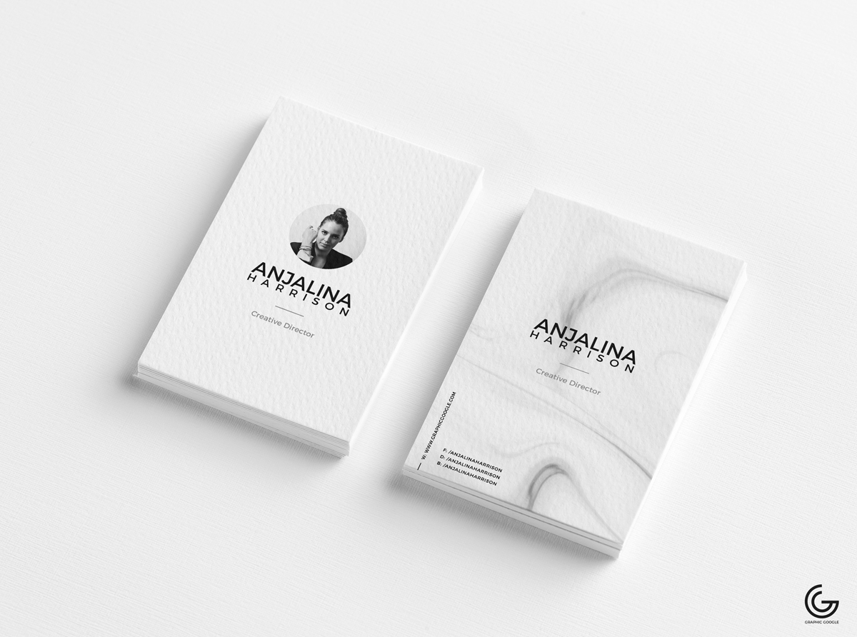 Free Modern Textured Business Card Mockup