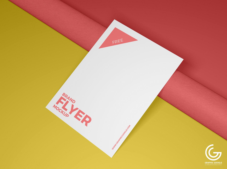 Free Brand Flyer Mockup PSD