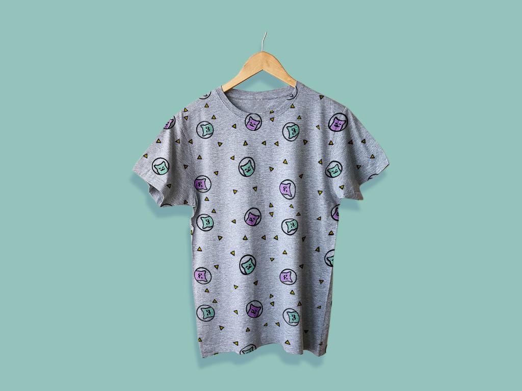 Free Hanging T-Shirt Mockup
