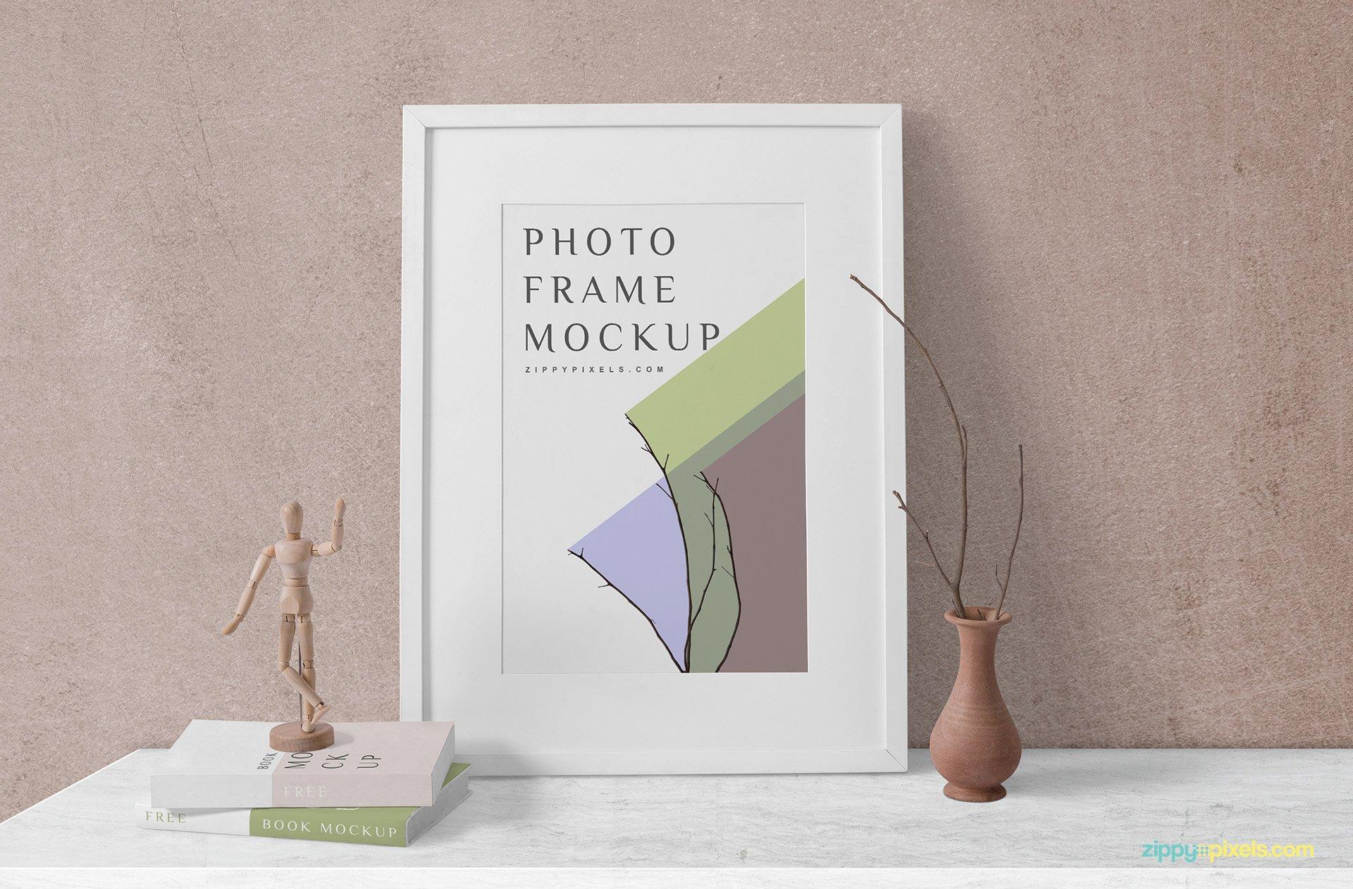 Free Wood Frame Mockup