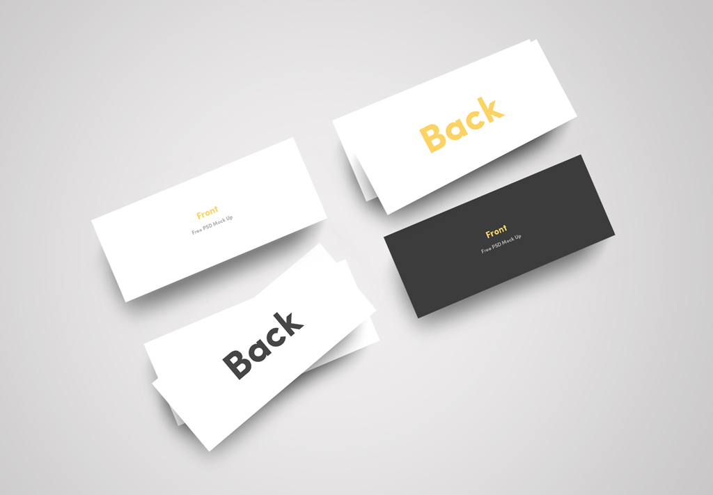 Slim Business Card Free Mockup PSD