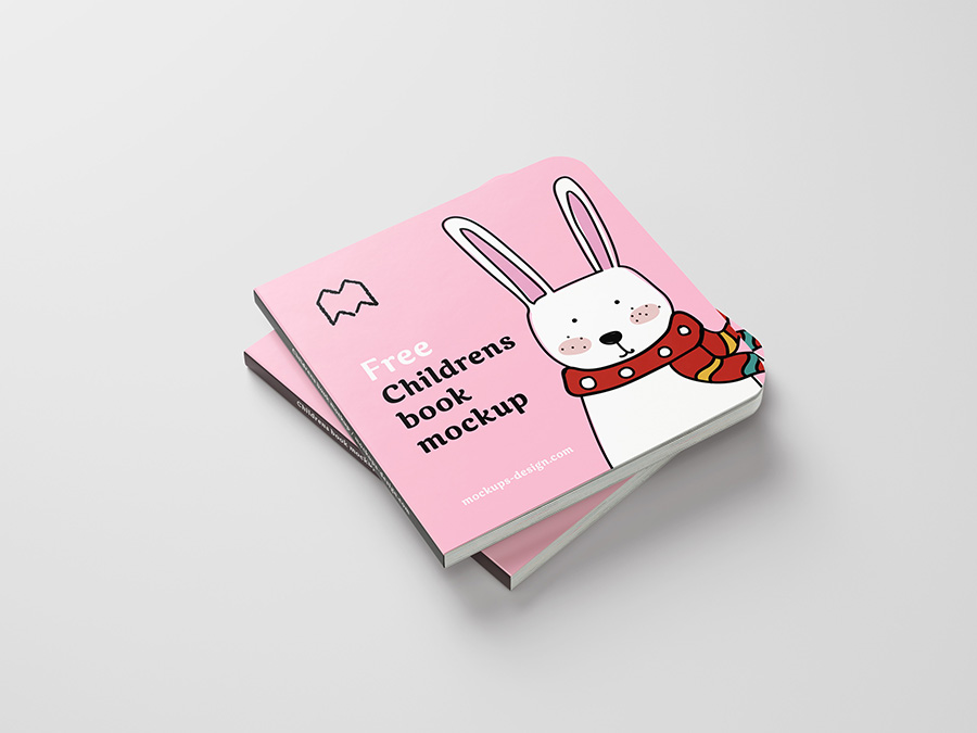 PSD children's book mockup