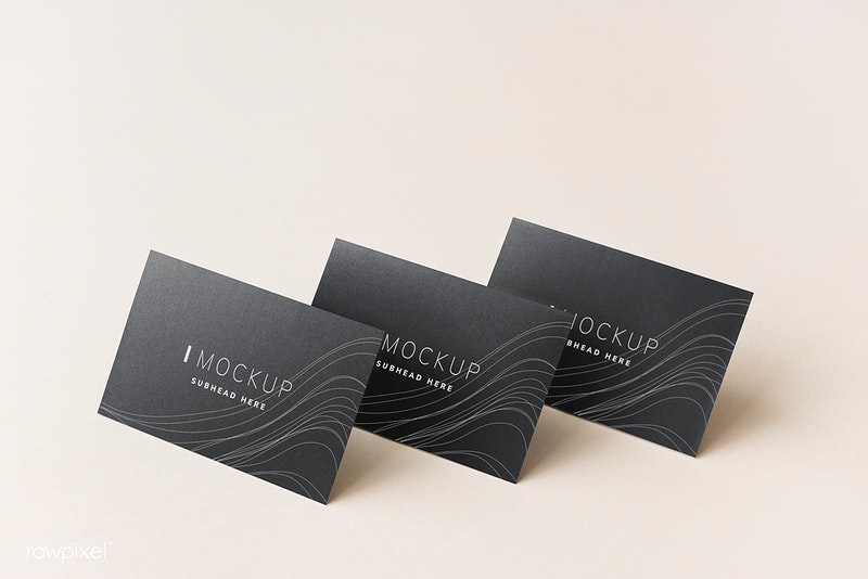 Black Business Card Design Mockup