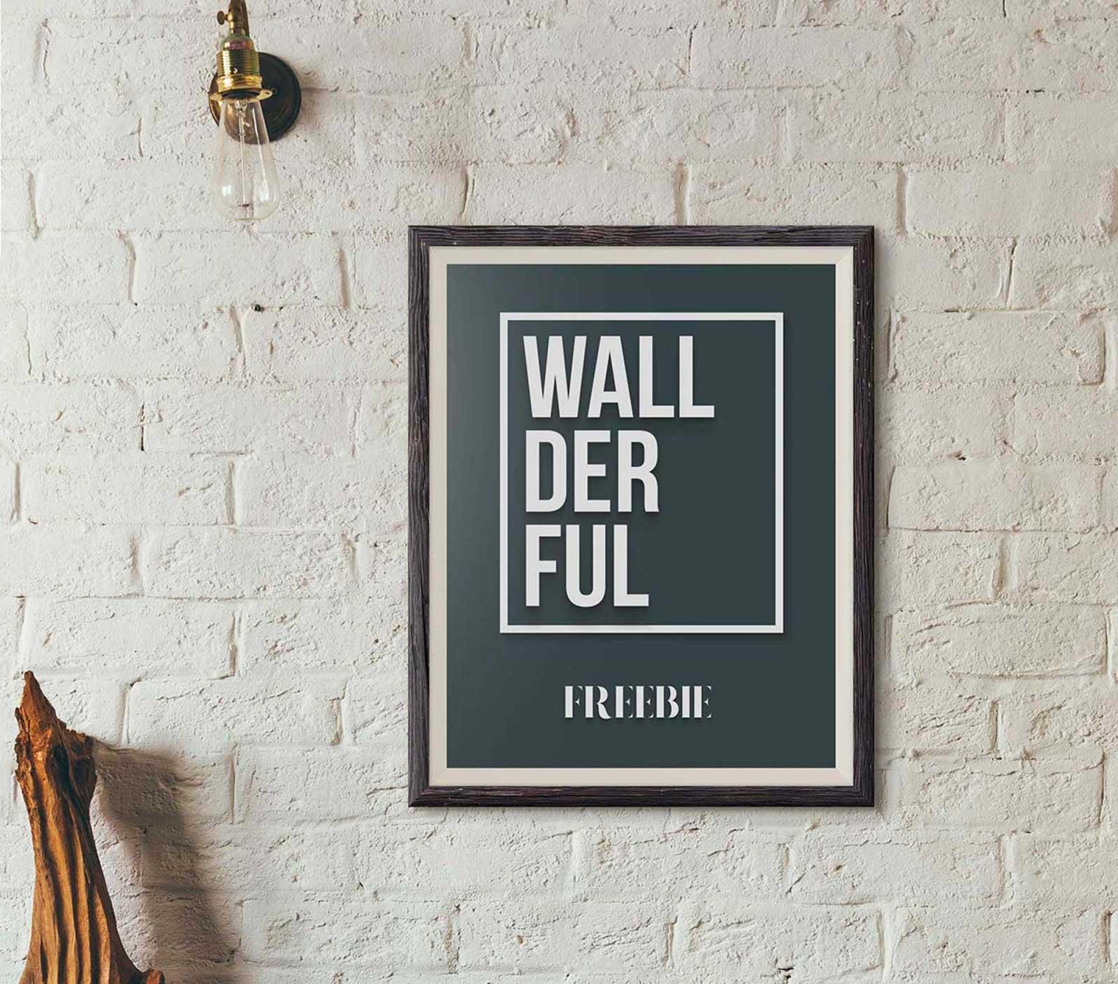 Free Wallderful Frame Mockups