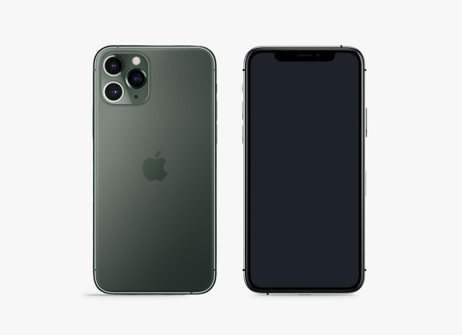 Free Front Back iPhone 11 Pro Mockup