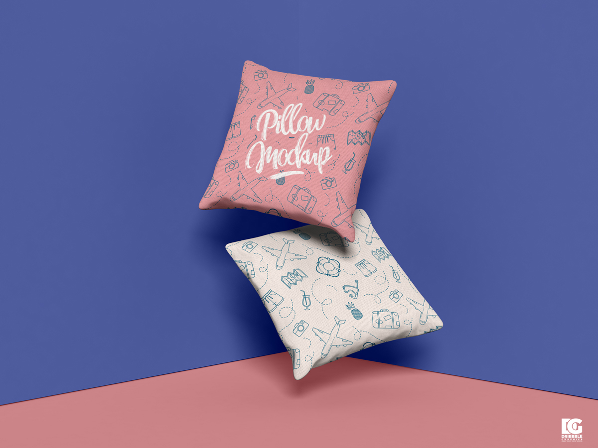 Free Brand Square Pillow Mockup Design