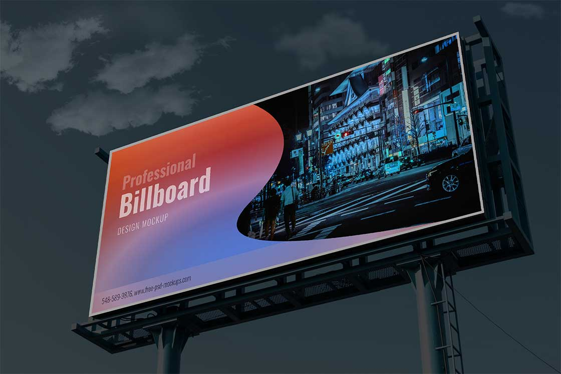 Outdoor Huge Billboard PSD Mockup