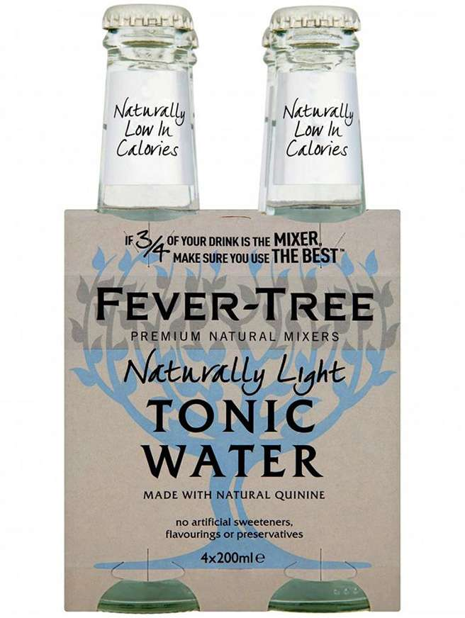 Fever Tree Naturally Tónica Light 4 X 20Cl