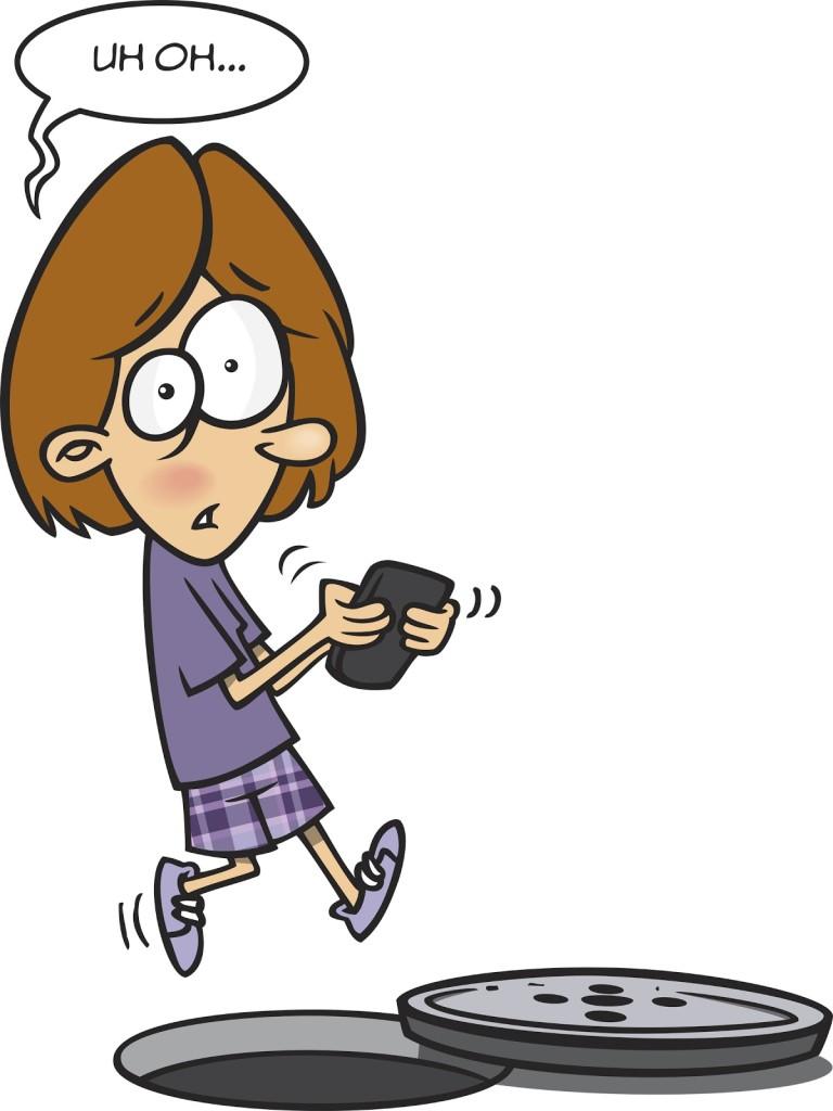 A boy texting..