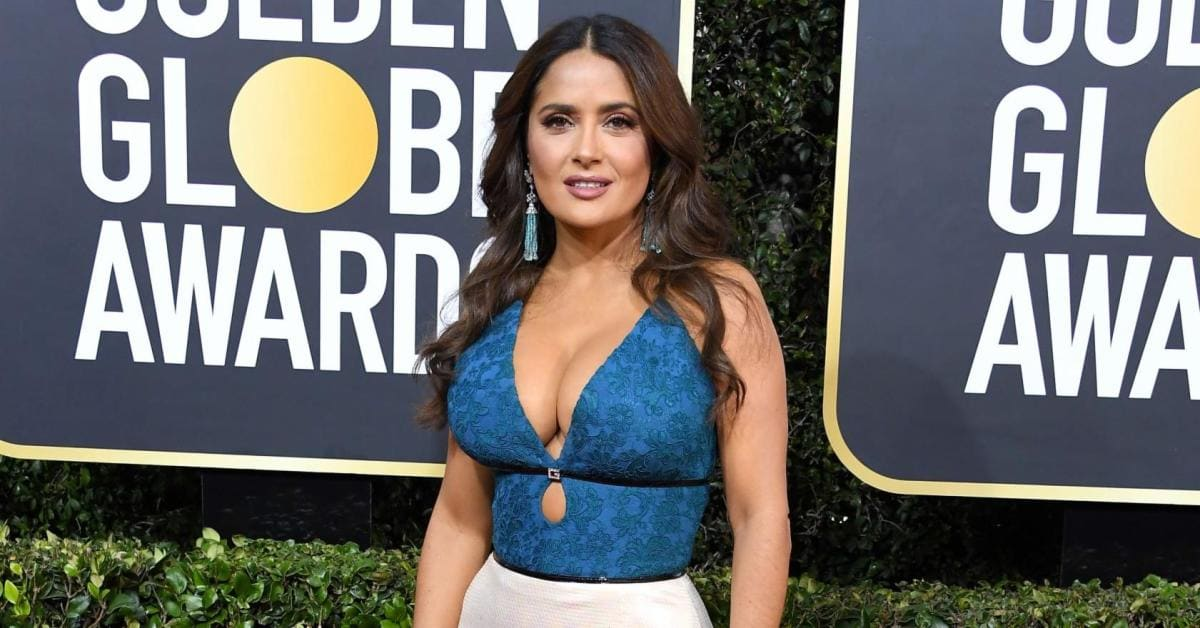 Salma Hayek Stuns on Red Carpet at Golden Globes