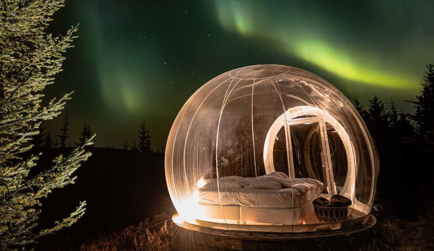 Stunning 'Bubble Hotel' Under the Icelandic Stars is Truly the Perfect 'Socially Distancing' Destination