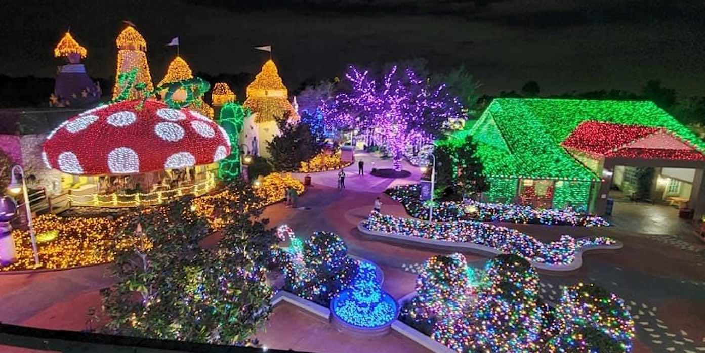 Amazing Walk-Through Holiday Village With Lights Borrowed from Disney Set to Raise Millions for Critically Ill Children