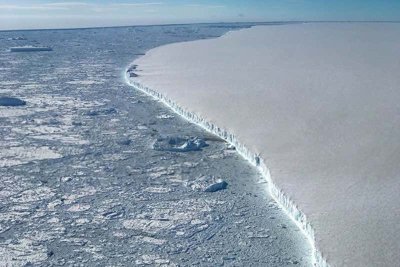 Over a third of Antarctic ice shelf could collapse as climate change warms the Earth
