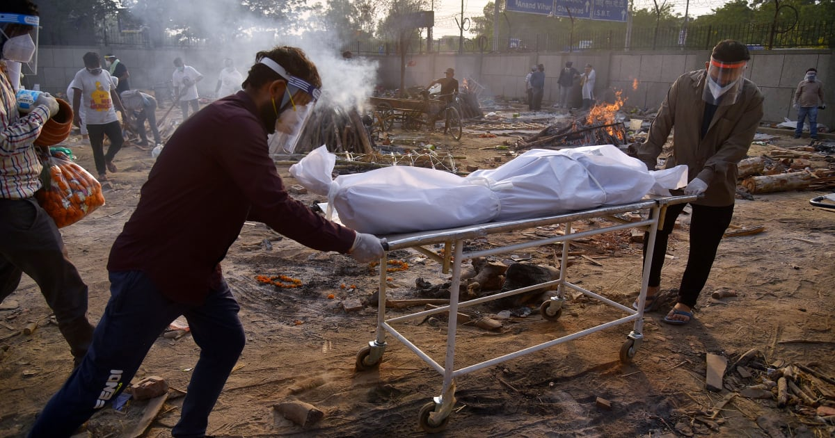India's daily death toll sets new record as COVID oxygen arrives