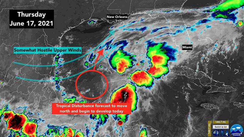 Northern Gulf coast on alert for flooding rains and gusty winds