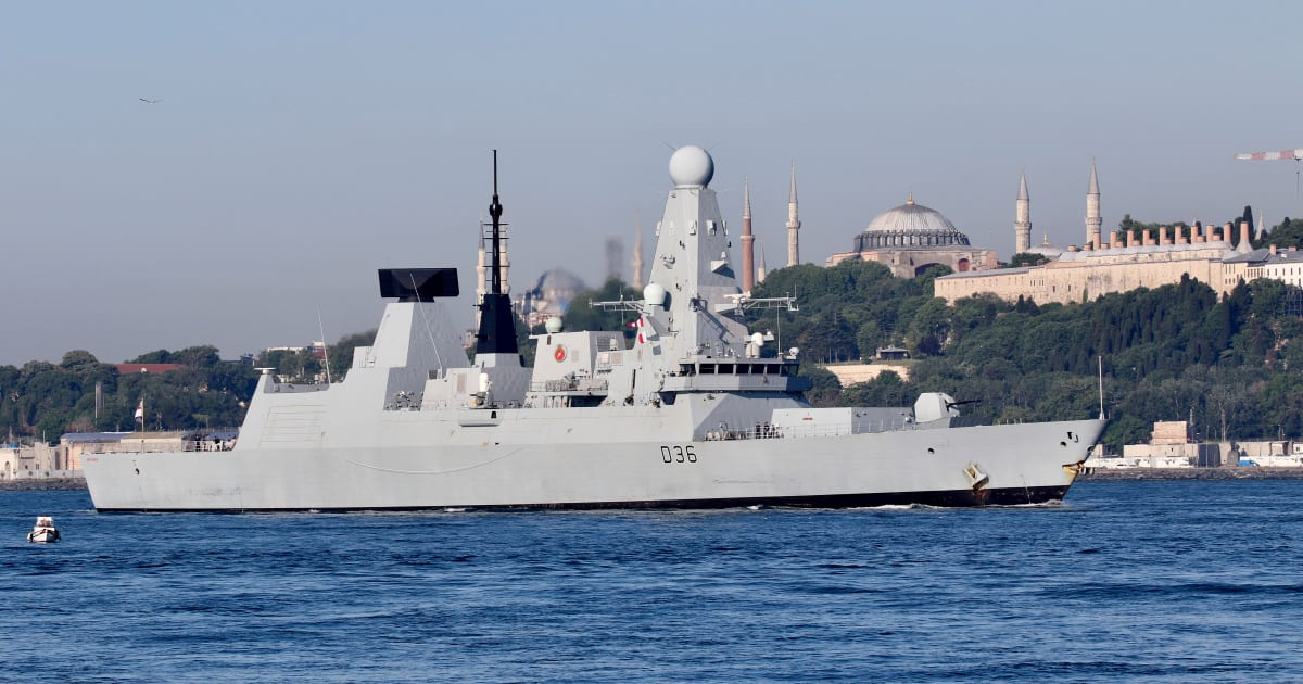 Russia says warning shots fired at British destroyer in Black Sea