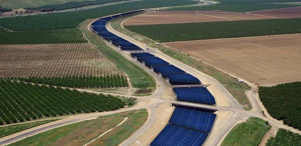 Huge Supply of Water is Saved From Evaporation When Solar Panels Are Built Over Canals