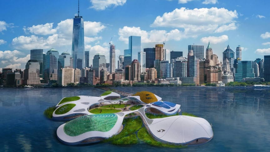 Architects Create 100% Self-Sufficient Floating Mobile Campus for Manhattan