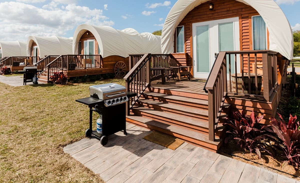 You Can Go Glamping in a Covered Wagon at This Western-Style Florida Ranch