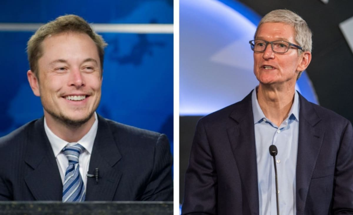 Elon Musk Allegedly Asked to be Apple's CEO When Tim Cook Asked to Buy Tesla