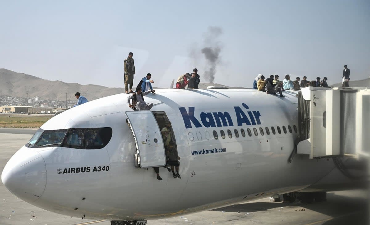 Pentagon says Kabul airport is secure, plans to evacuate 5,000 to 9,000 people per day