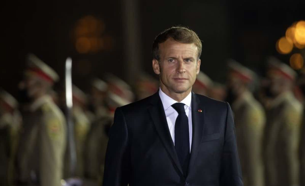 France's Macron visits Iraq's Mosul destroyed by IS war