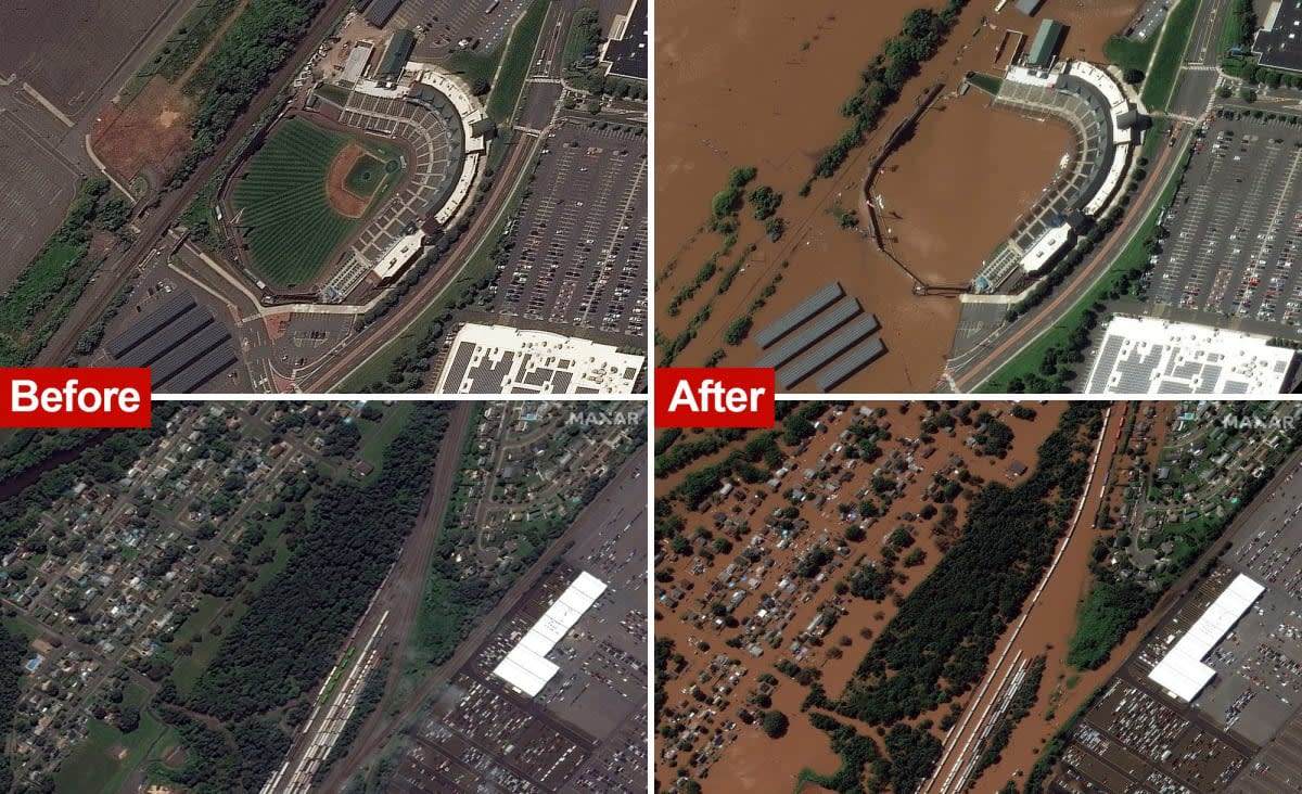 Before-and-after satellite images show flooding in NY, NJ after Hurricane Ida