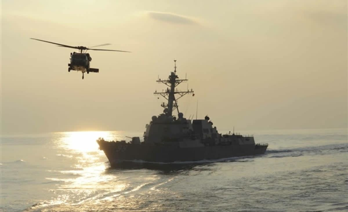 Navy helicopter rotor hit flight deck in incident that killed five sailors