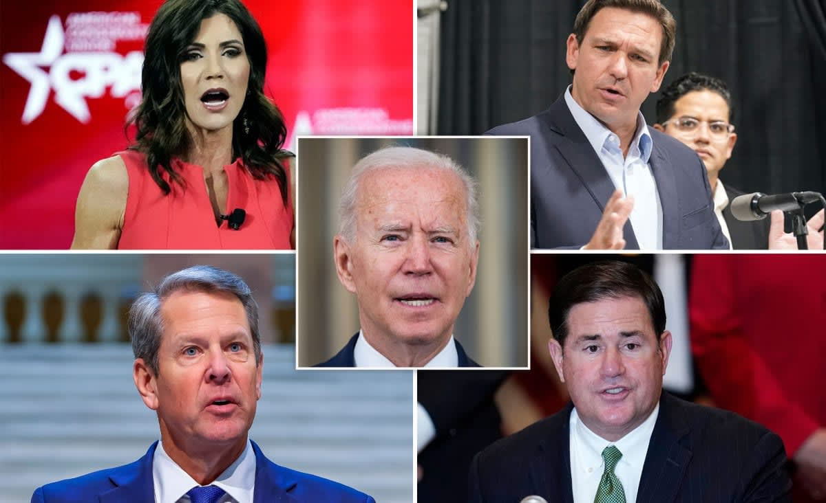 GOP governors rip Biden over new mandate, threaten legal action