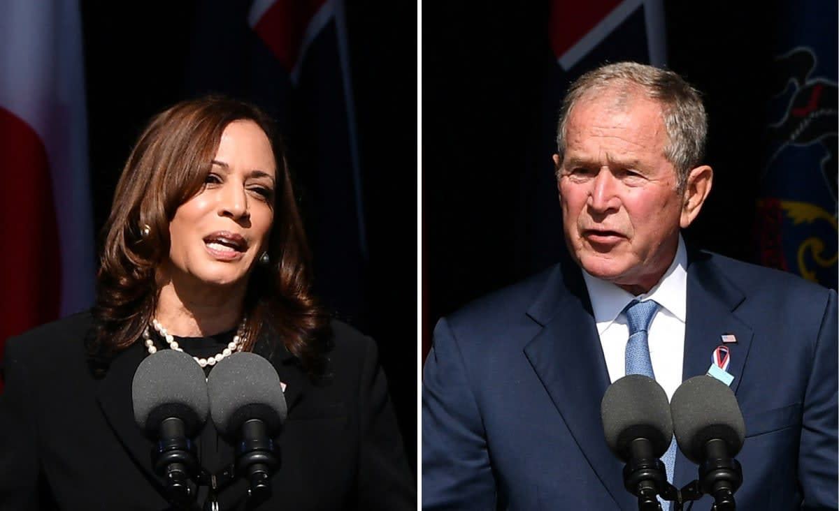 George W. Bush, Kamala Harris point to unity after 9/11 in memorial speeches