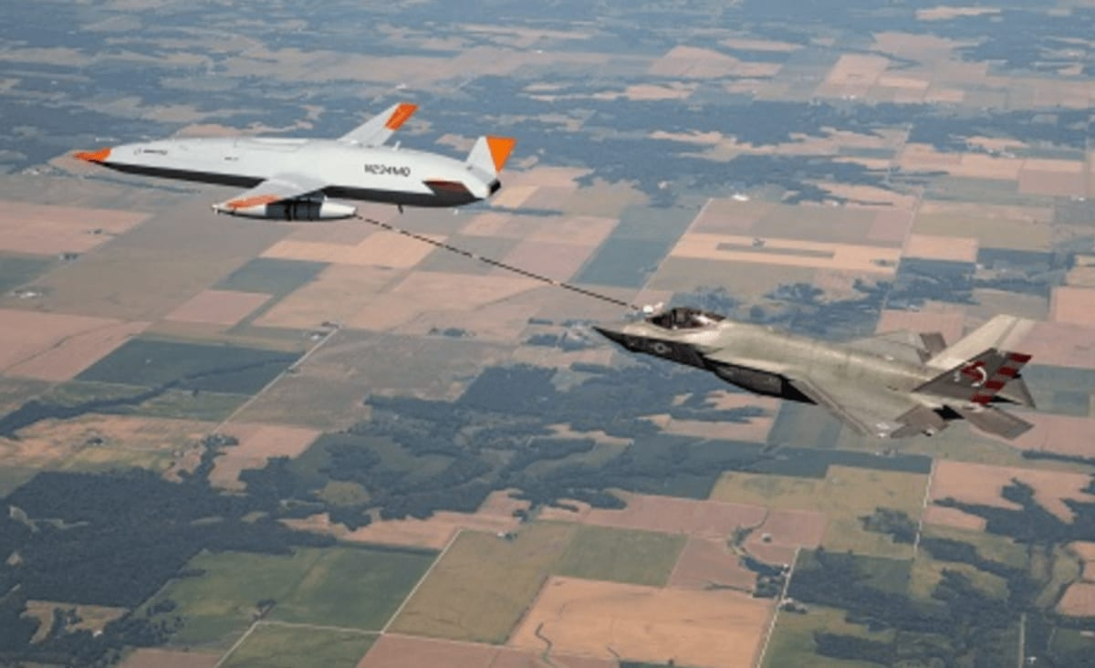 Watch Boeing's Drone Tanker Refuel US Navy F-35C For the First Time