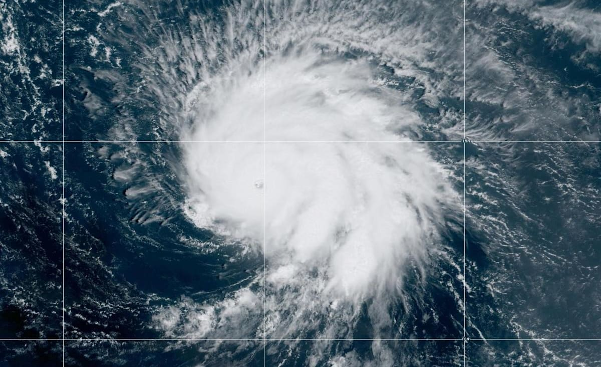 Hurricane Sam strengthens to Category 4 in the Atlantic