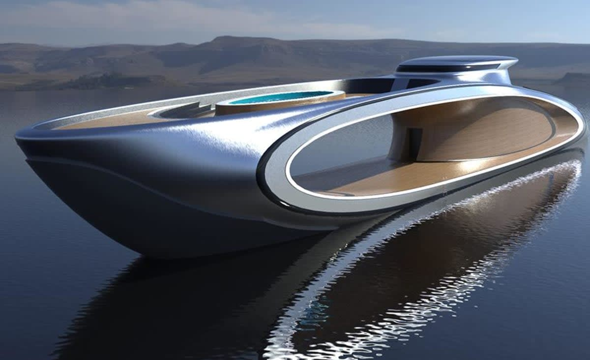 There's a Giant Hole in the Middle of This 226-Foot Superyacht Concept—and That's the Point