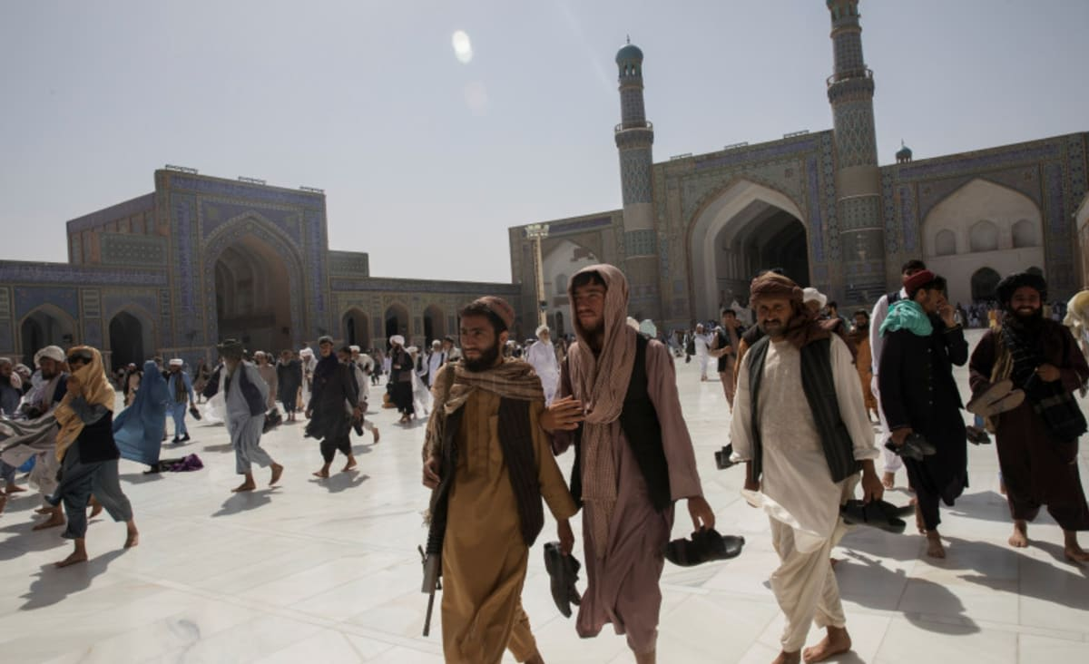 Suicide bombing in Afghan mosque kills at least 50, dozens injured