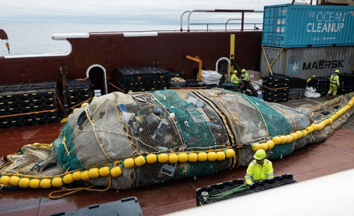 Ocean Cleanup Just Scooped a Colossal Pile of Garbage From the Ocean