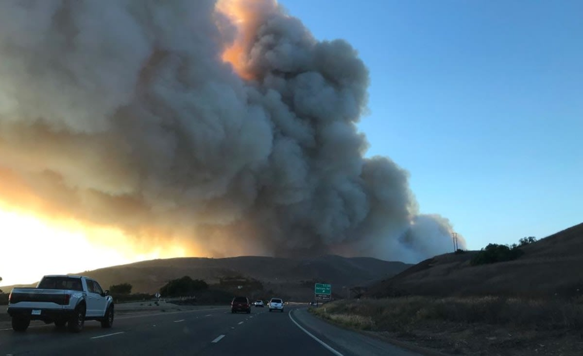 Alisal Fire prompts evacuations in Santa Barbara County and closure of part of California's iconic Highway 101