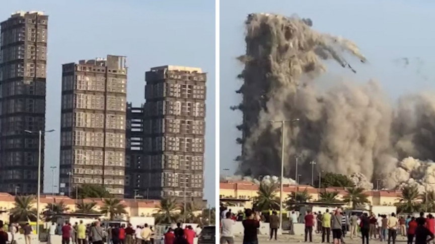 144-Floor Plazas Demolished in Abu Dhabi Within 10 Seconds
