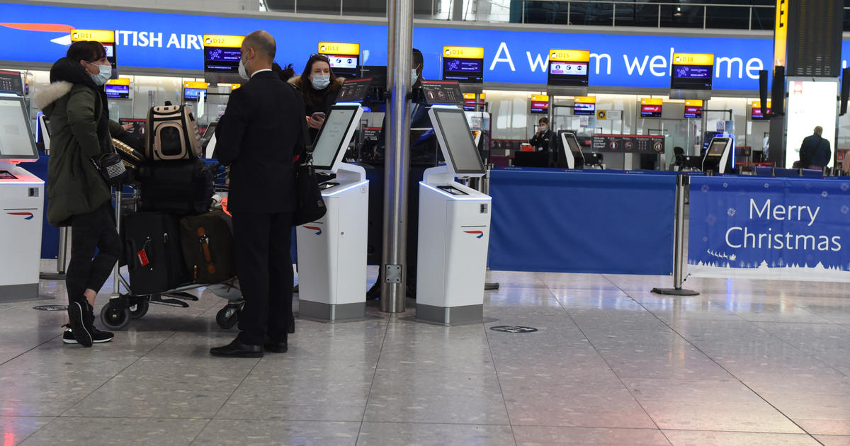 U.S. to require COVID-19 tests for airline passengers from U.K.