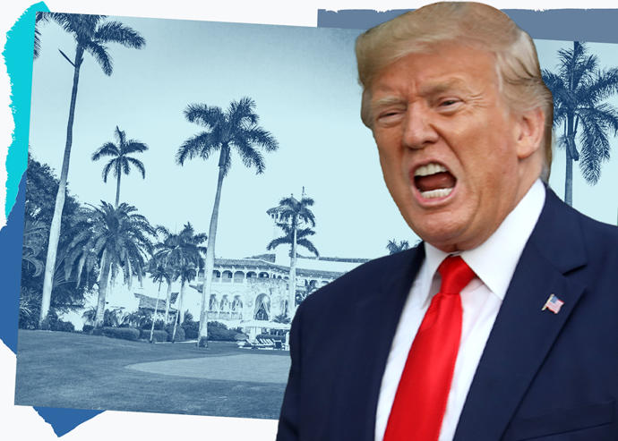 Trump Asks to Stay in Mar-a-Lago — as Employee