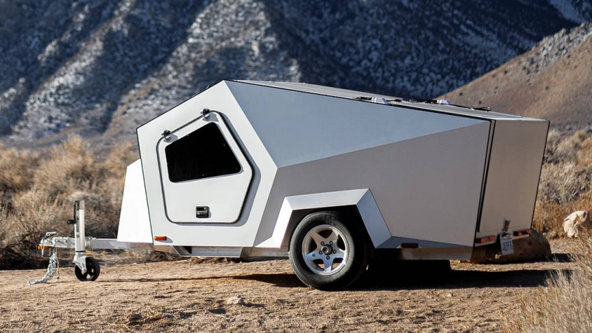 This Tesla Cybertruck Look-Alike Trailer Is Made for Electric Vehicles
