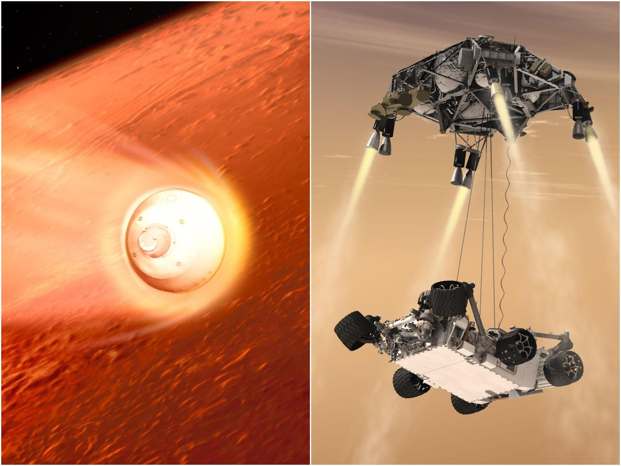 Striking NASA animation reveals the harrowing descent to Mars that the Perseverance rover is about to attempt