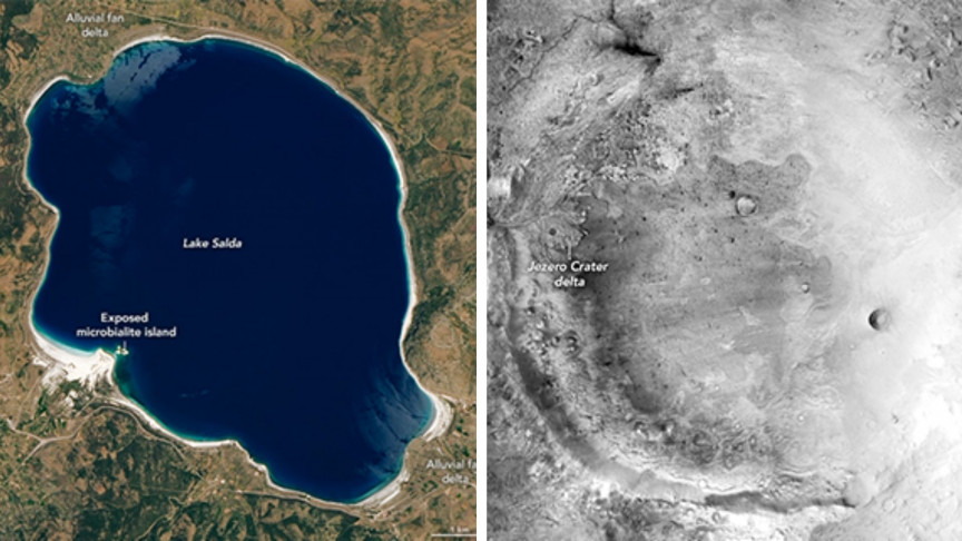 A Turkish Lake Is Oddly Similar to a Martian Crater