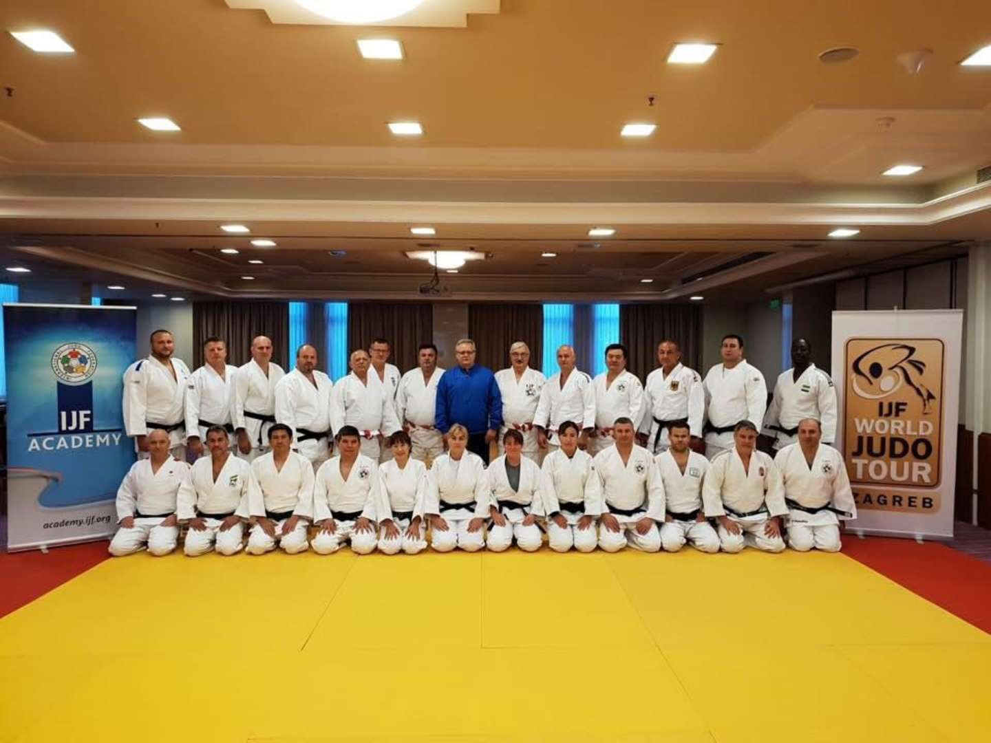 Budapest GP referees don their judogi for successful IJF